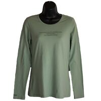 Womens Barco Grey's Anatomy Green Long Sleeve Graphic Shirt Top Size S Small