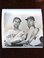 Original Ted Williams & Mickey Vernon Boston Red Sox Wire Photo