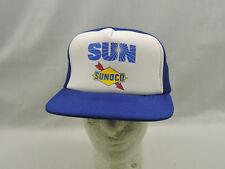 Sun Sonoco Gas Mesh Trucker Hat Cap Two Tone Blue White One Size Snapback Biker