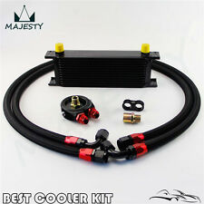 13 Row AN-10AN Universal Engine Oil Cooler+Filter Adapter Hose Kit For Japan Car