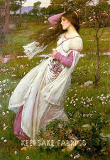 Windswept Lady by Waterhouse Vintage Repro Quilt Block FrEe ShiPpinG WoRld WiDe