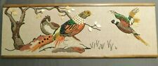 "VINTAGE Mid Century Wall Art Gravel Pebble Framed Picture GROUSE Large 36""X13"""