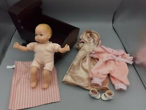 Felicity American Girl Baby Sister Polly Cradle Set Satin Gown Doll Cradle More
