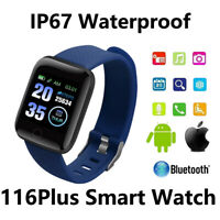 116 Plus Smart Bracelet Watch Wristband Ring Band Hand Sports Fitness Tracker