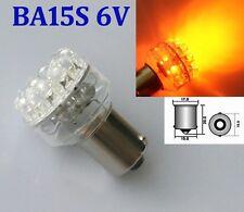 2x 24 LED 1156 ba15s Yellow/Amber Car Bulb Tail/Stop/Turn Signal Light Lamp 6V