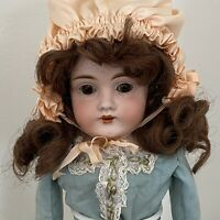 """Antique German Kestner Doll DEP 154 Bisque Head Doll 16"""""""