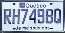 🏁 🌟🌟🎼🎶🎶 AUTHENTIC CANADA 2015's QUEBEC LICENSE PLATE. RH7498Q NEAR MINT