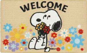 """KITCHEN PRINTED ACCENT RUG (nonskid back) (17""""x28"""")PEANUTS,SNOOPY DOG,WELCOME,EE"""