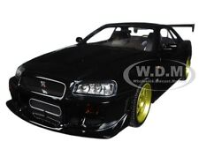 1999 NISSAN SKYLINE GT-R (R34) BLACK 1:18 DIECAST MODEL CAR BY GREENLIGHT 19030