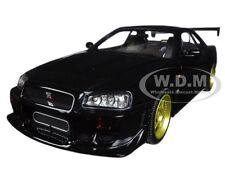 1999 NISSAN SKYLINE GT-R (R34) BLACK 1:18 DIECAST MODEL CAR BY GREENLIGHT 19030