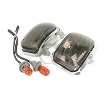 Smoke Front Side Turn Signal Lights For Honda Goldwing GL1800 01-17 F6B 13-17