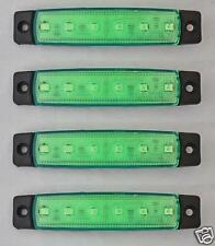 4x Verde 12V 6 LED Lateral Trasero Lámpara De Luz De Marcador Camión Trailer