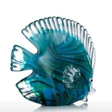 Tooarts Blue Tropical Fish Glass Gift Ornament Sculpture Home Decoration G4o6