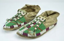 Pair of Native American Dakota Sioux Moccasins - Late 19th Century