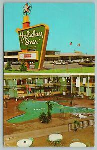 Moorehead Minnesota~Holiday Inn~Swimming Pool~Vintage Postcard