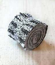 2.5 inch Black & White Jelly Roll 100% cotton fabric quilting strips 17 pcs