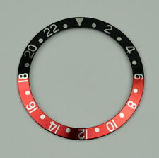 BEZEL INSERT FITS & FOR ROLEX GMT MASTER WATCH RED BLACK PEPSI CASES 16800 PART