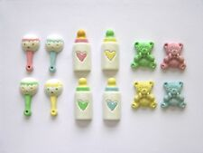 12  beautiful resin Baby embellishments, cardmaking crafts
