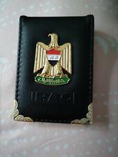 Leather wallet /unisex/ Iraq flag
