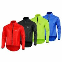 Mens Cycling Waterproof Rain Coat Jacket Hi Visibility Running Full Sleeve Top
