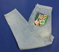 Only for girl jeans donna usato mom hot vita alta vintage w38 tg 52 carota T4015