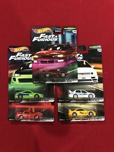 Hot Wheels Fast and Furious Premium Original Fast Cars Complete Set Of 5