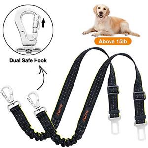 iBuddy Dog Seat Belts for Cars of Medium/Large Dogs, Adjustable Pet Seat Belt 2