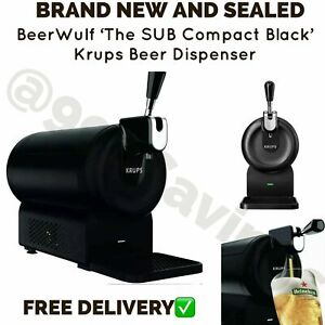 BeerWulf The SUB Compact Black Krups Beer Dispenser - Brand New - Fast Delivery