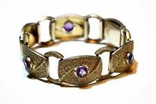 Original Theodor Fahrner Armband Silber vergoldet mit Amethyst selten Rarität