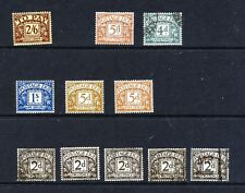 POSTAGE DUES small mint selection all inc 1936-7 5d cinnamon & yellow brown, 1/-