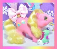 ❤️My Little Pony MLP G1 Vtg 1987 BABY Newborn Tappy Pink Yellow Blue Shoes❤️