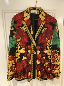 Marina Sitbon pour Kamosho Paris Vintage Baroque Print Jacket M 44 RRP£499