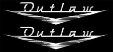 "X2 Awesome OUTLAW VINTAGE Look emblem Decal set , Looks like ""Bel Air"" style."