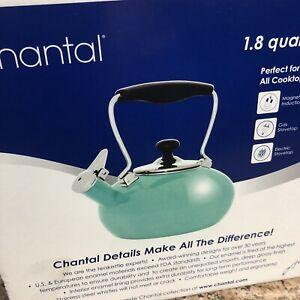 Chantal 1.8qt Enamel On Steel Whistling Tilt Teakettle Aqua