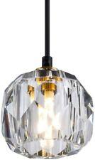 Black Crystal Pendant Light Fixture Modern Hanging Ceiling Kitchen Island Brass