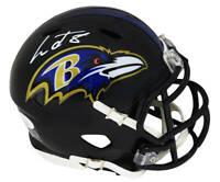 Lamar Jackson Signed Baltimore Ravens Riddell Speed Mini Helmet - JSA COA