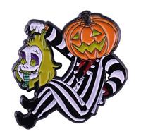 Beetlejuice Pumpkinhead Enamel Pin Horror Movie Lapel Pin Halloween Retro Funny