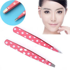 2pcs Stainless Steel Hair Removal Eyebrow Tweezer Beauty Makeup Make up Tools a 2