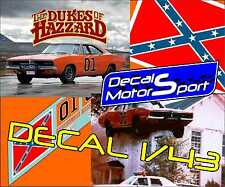 Decal 1/43 Dodge Charger General Lee The Dukes of Hazzard