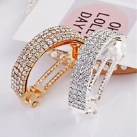 Ponytail Crystal Pins Hair Clips Barrettes Women Rhinestone Hairpin Accessories