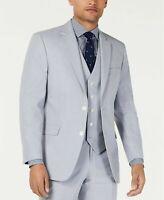 Tommy Hilfiger Modern-Fit Stretch Light Gray Chambray 44R Suit Jacket