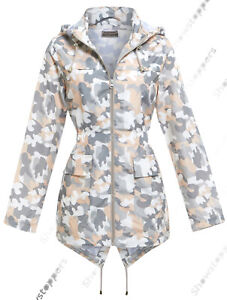 Womens Rain Mac Showerproof Raincoat Jacket Plus Sizes 22 20 18 24 Hooded Coat