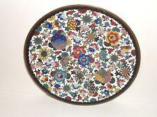 "Rare Japanese Cloisonne Enamel Millefleur 7""5/8 Plate"