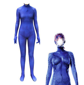 X Men Mystique Raven Darkholme 3D Zentai Suit Halloween Cosplay Costume Jumpsuit