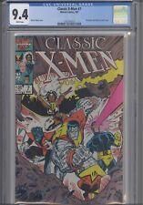 Classic  X-Men #7 CGC 9.4 1987  Marvel Comic: John Bolton pin-up Back Cover