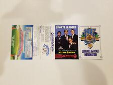 Kansas City Royals 1987 MLB Baseball Pocket Schedule - WDAF-TV 4
