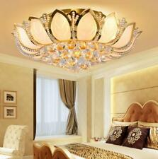 Modern LED K9 Crystal Ceiling Lamp Chandelier Bedroom Lighting Fixture US Sale