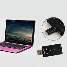 SCHEDA AUDIO USB 7.1 Canali ESTERNA 3d sonido Adaptador PC notebook power