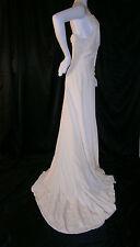 FANCY NY NEW YORK VTG INSPIRED IVORY CREAM 6 WEDDING GOWN DRESS SILK USA MADE
