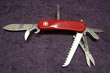 Wegener Delemont Traveler Swiss Army Knife red scissors 9 tools
